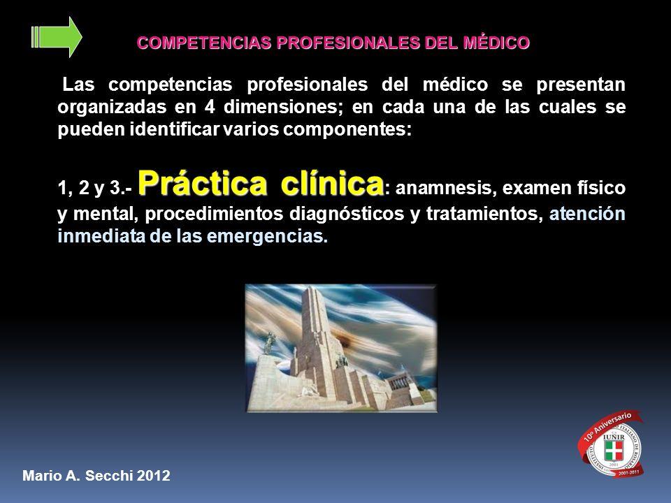 COMPETENCIAS PROFESIONALES DEL MÉDICO