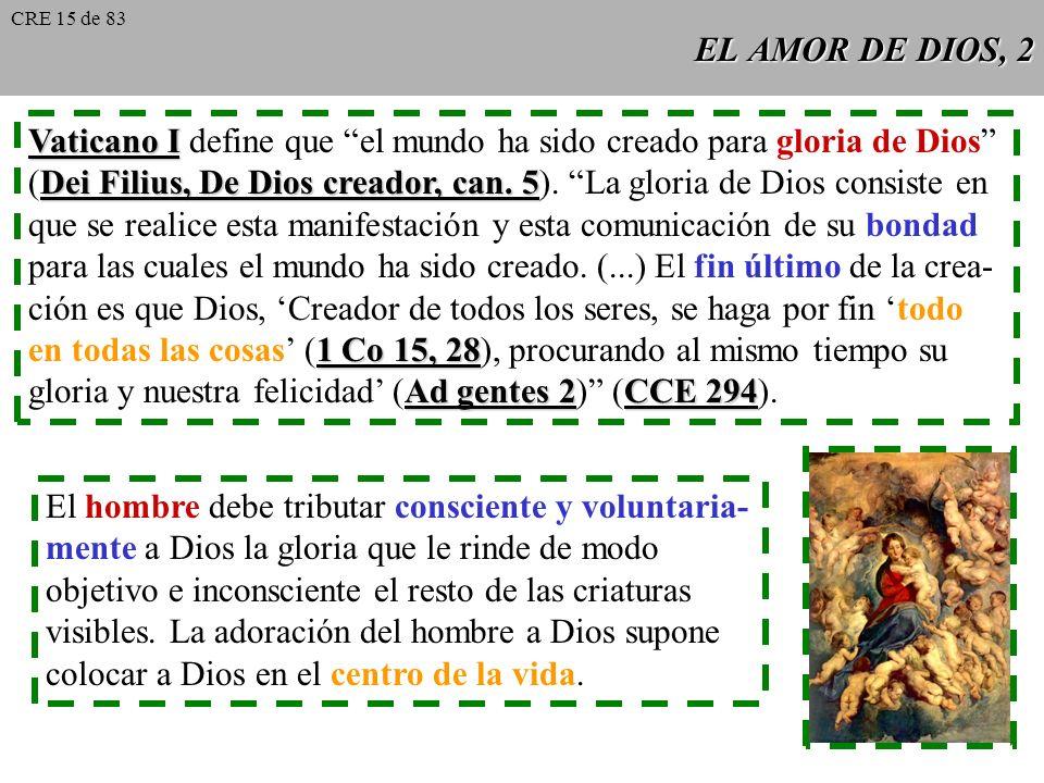 Vaticano I define que el mundo ha sido creado para gloria de Dios