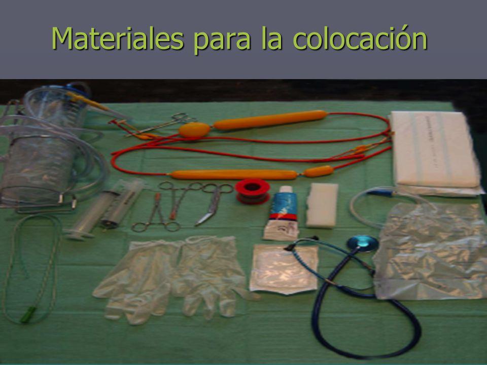 Materiales para la colocación