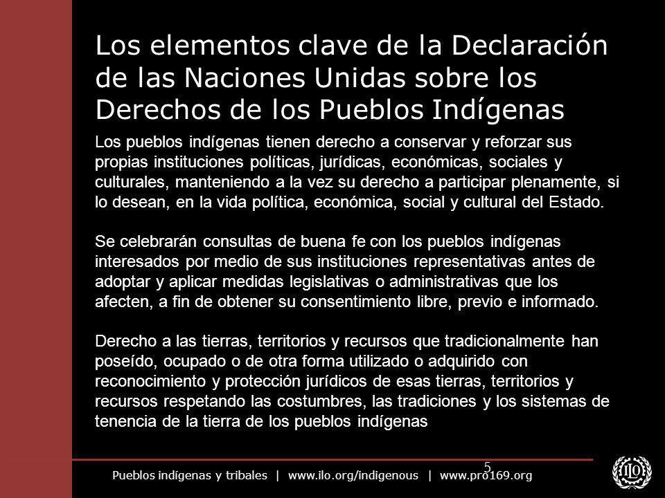Los elementos clave de la Declaración de las Naciones Unidas sobre los Derechos de los Pueblos Indígenas