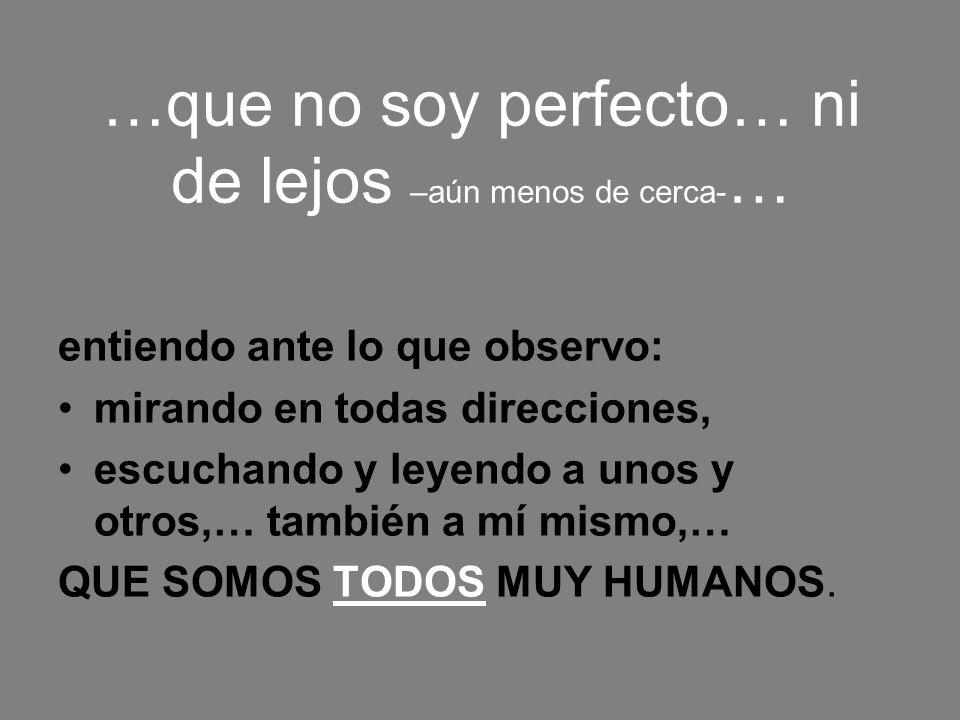 …que no soy perfecto… ni de lejos –aún menos de cerca-…