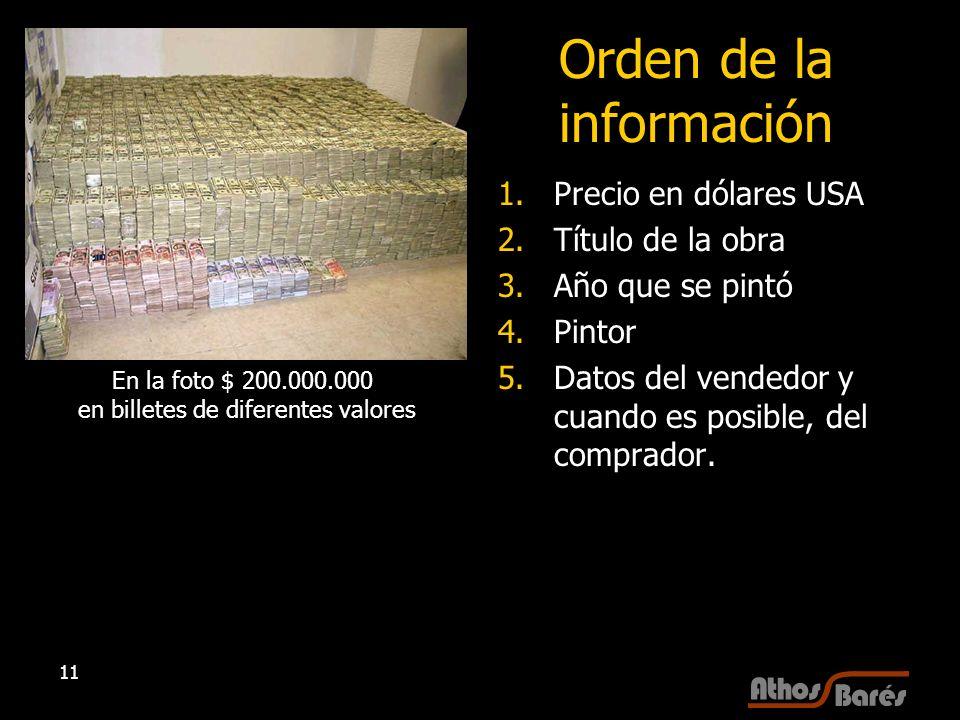 Orden de la información