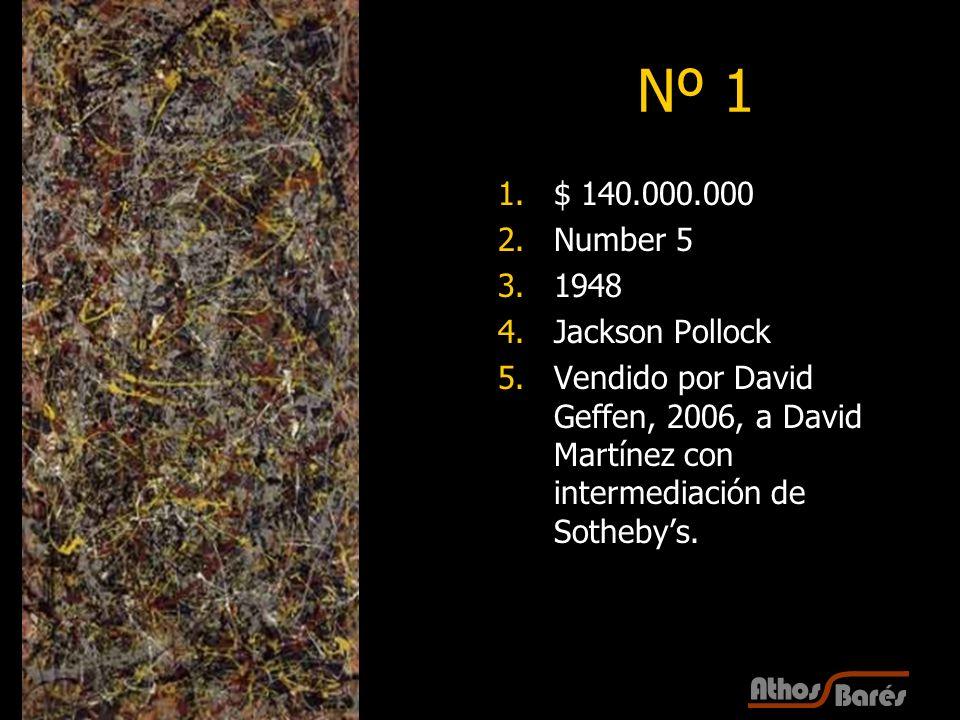 Nº 1 $ 140.000.000 Number 5 1948 Jackson Pollock