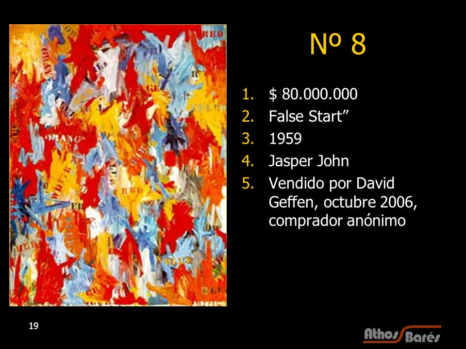Nº 8 $ 80.000.000 False Start 1959 Jasper John