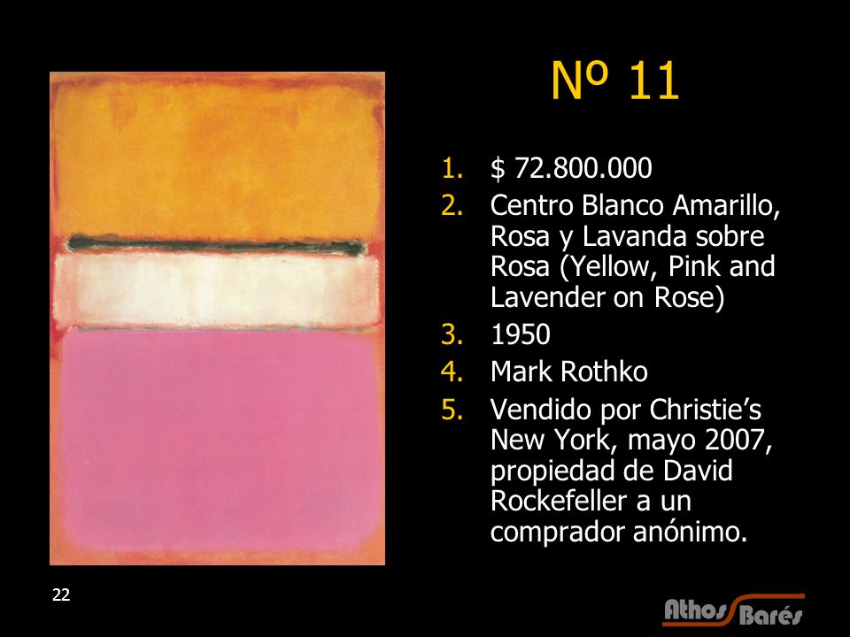 Nº 11 $ 72.800.000. Centro Blanco Amarillo, Rosa y Lavanda sobre Rosa (Yellow, Pink and Lavender on Rose)