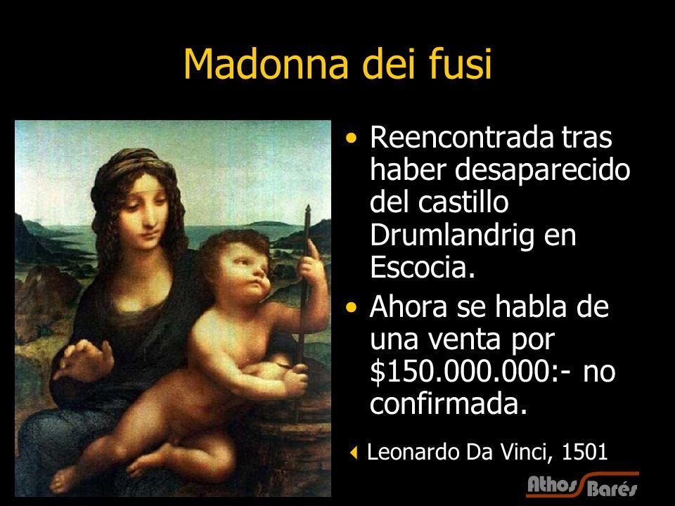 Madonna dei fusi Reencontrada tras haber desaparecido del castillo Drumlandrig en Escocia.
