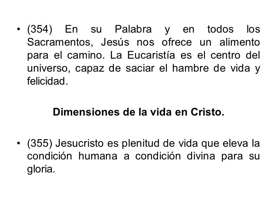 Dimensiones de la vida en Cristo.