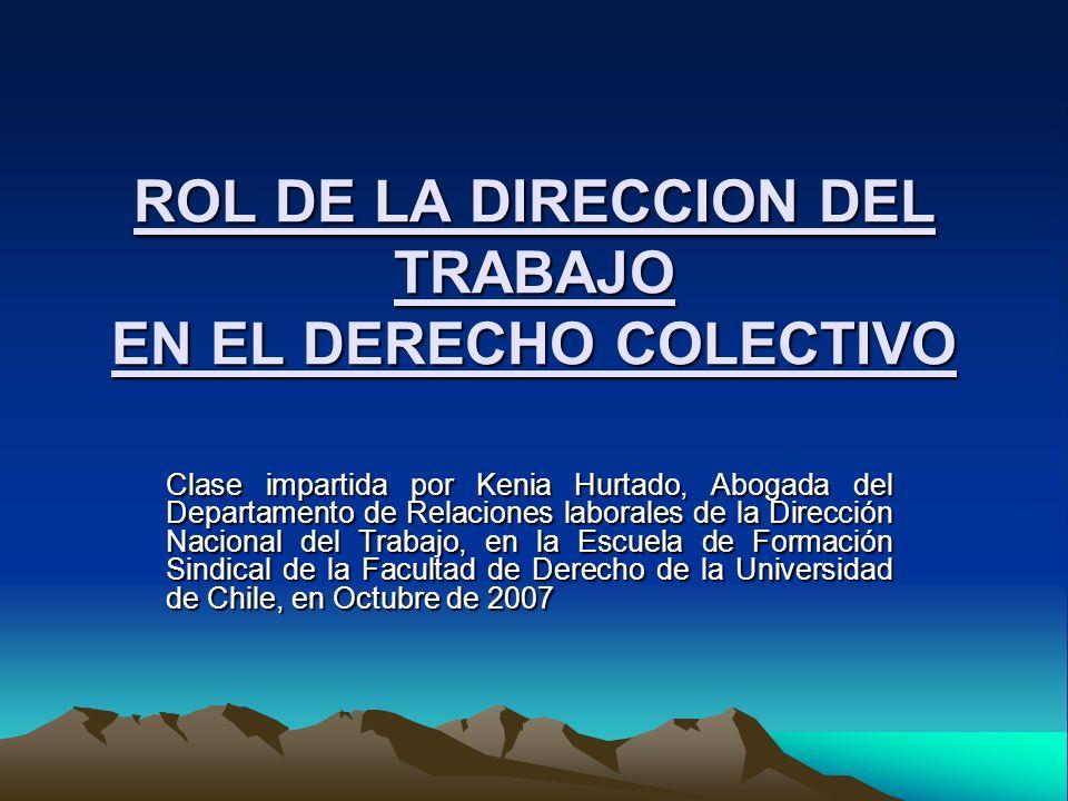 ROL DE LA DIRECCION DEL TRABAJO EN EL DERECHO COLECTIVO