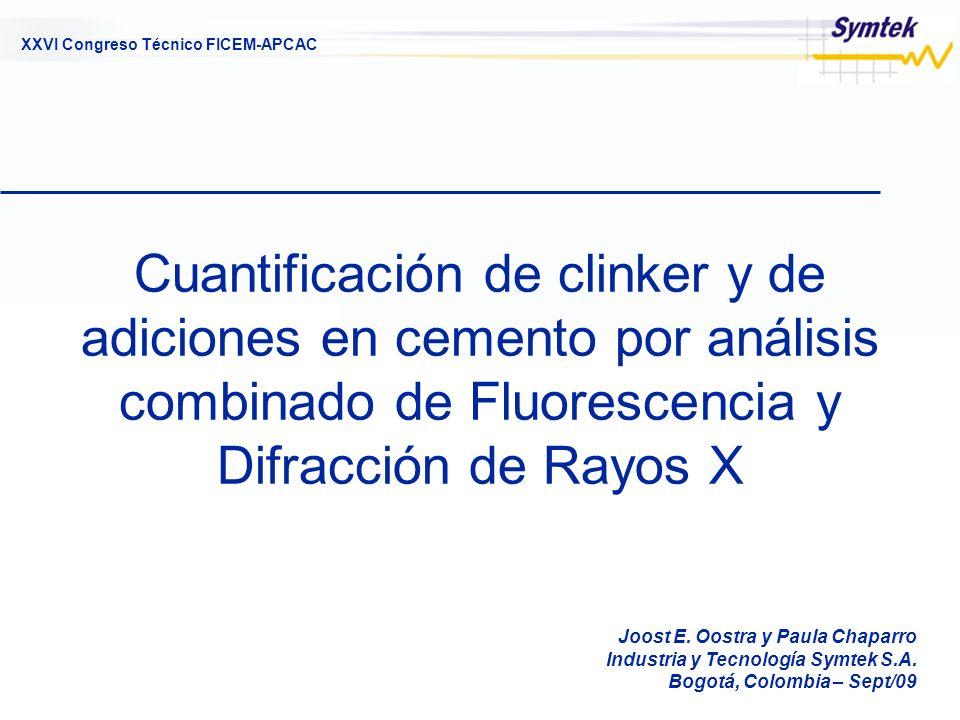 Cuantificación de clinker y de adiciones en cemento por análisis combinado de Fluorescencia y Difracción de Rayos X