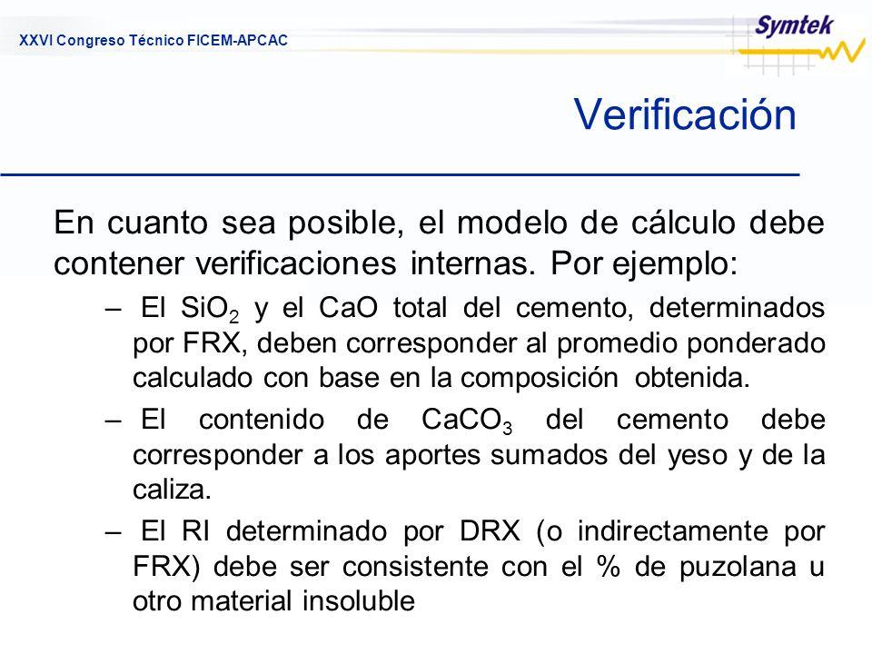 Verificación En cuanto sea posible, el modelo de cálculo debe contener verificaciones internas. Por ejemplo: