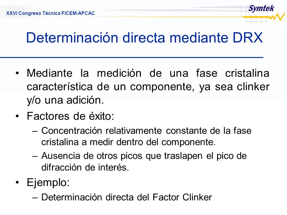Determinación directa mediante DRX