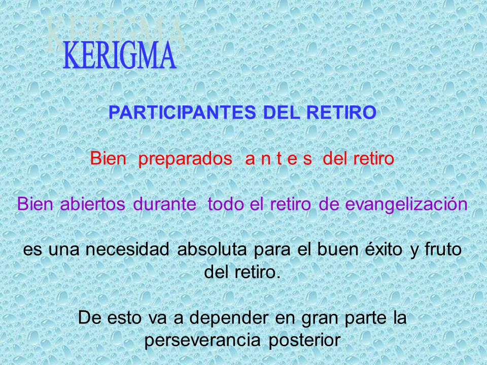 PARTICIPANTES DEL RETIRO
