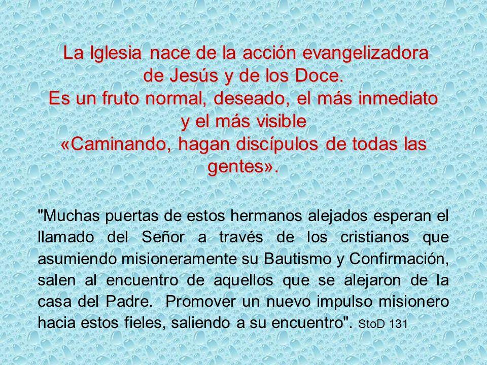 La Iglesia nace de la acción evangelizadora de Jesús y de los Doce.