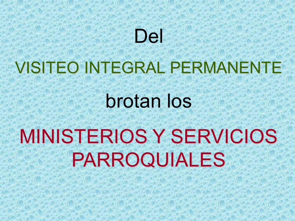 MINISTERIOS Y SERVICIOS PARROQUIALES