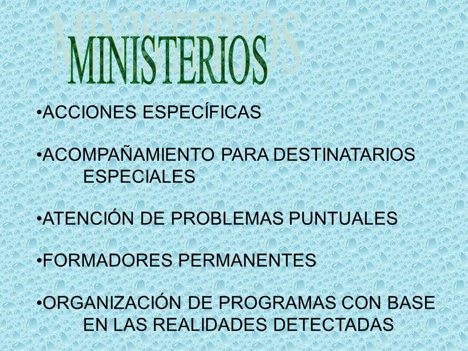 MINISTERIOS ACCIONES ESPECÍFICAS