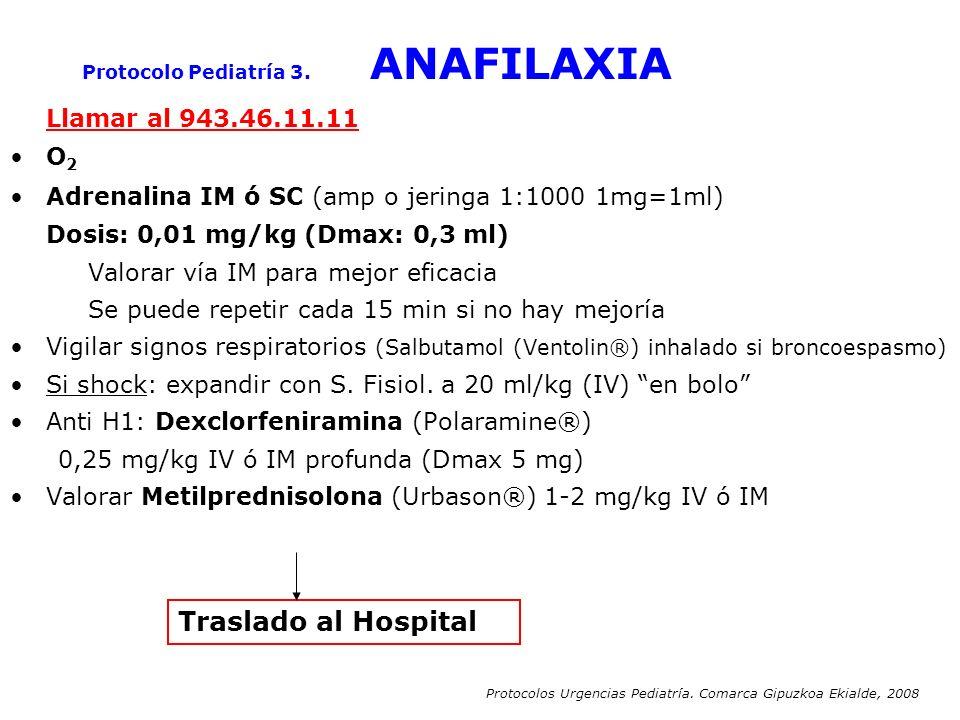 Protocolo Pediatría 3. ANAFILAXIA