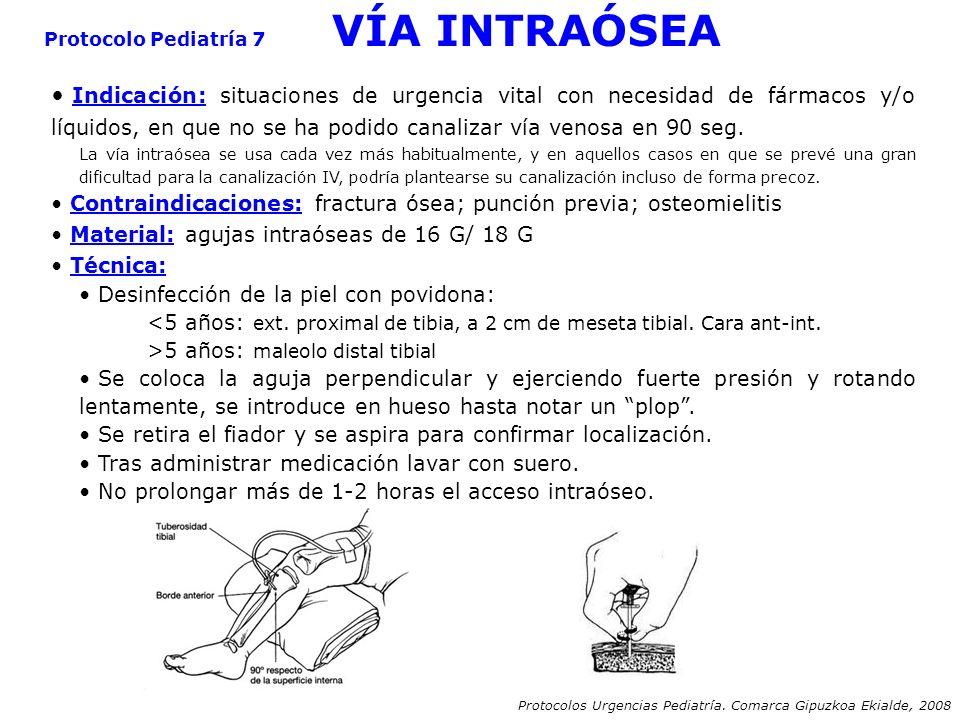 Protocolo Pediatría 7 VÍA INTRAÓSEA