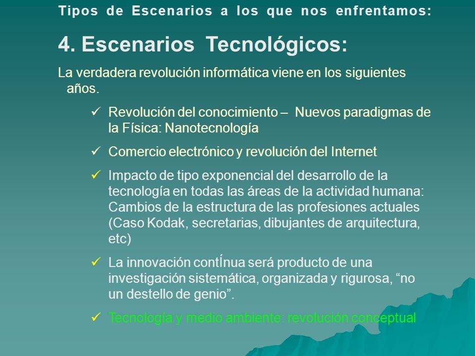 4. Escenarios Tecnológicos: