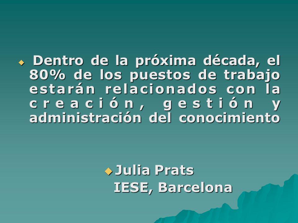 Julia Prats IESE, Barcelona