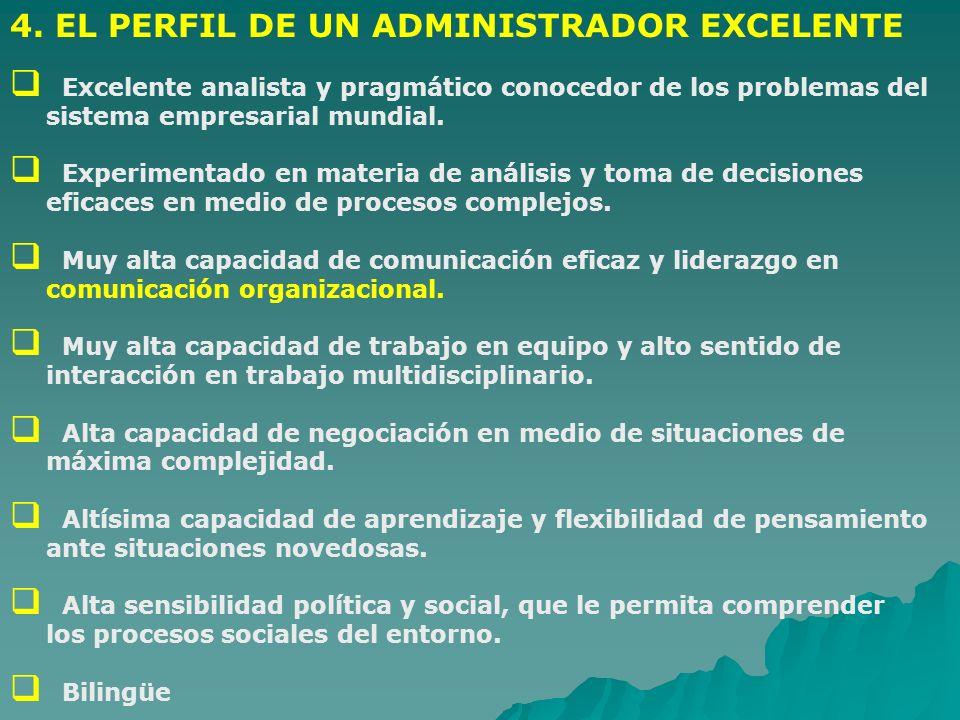 4. EL PERFIL DE UN ADMINISTRADOR EXCELENTE