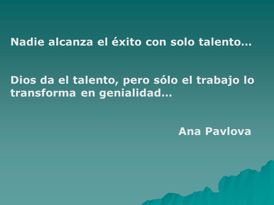 Nadie alcanza el éxito con solo talento…