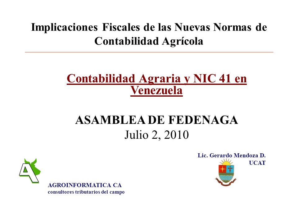 Implicaciones Fiscales de las Nuevas Normas de Contabilidad Agrícola