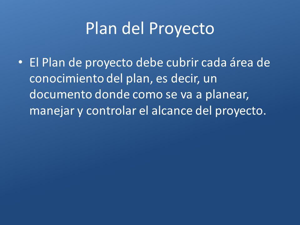 Plan del Proyecto