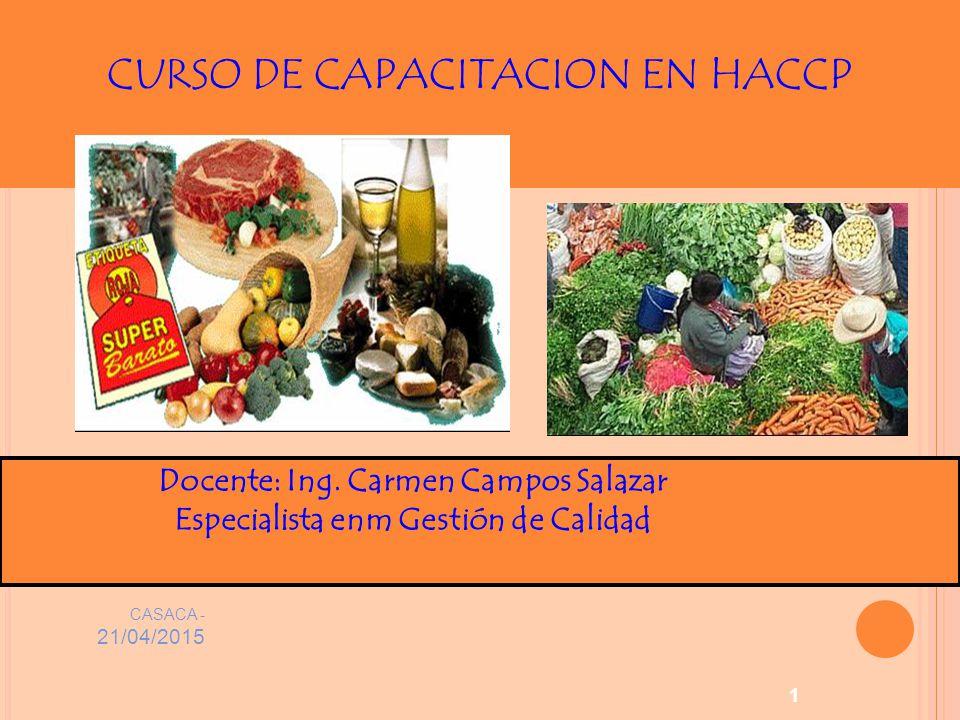 CURSO DE CAPACITACION EN HACCP