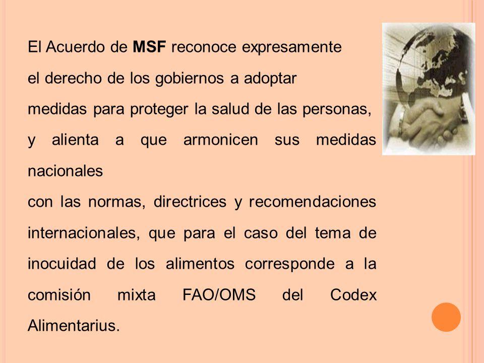 El Acuerdo de MSF reconoce expresamente