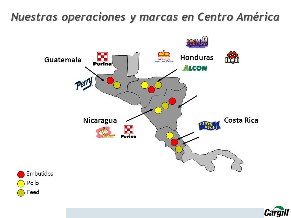 Nuestras operaciones y marcas en Centro América
