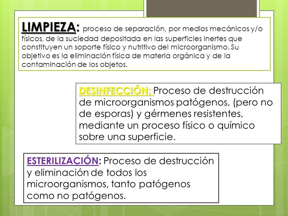 Efectuar procedimientos especializados de limpieza Limpieza y desinfeccion de equipos