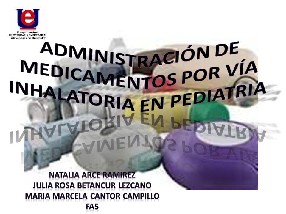 Administración DE MEDICAMENTOS POR Vía INHALATORIA EN PEDIATRIA