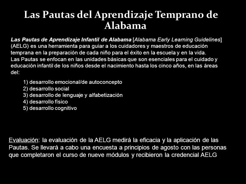 Las Pautas del Aprendizaje Temprano de Alabama