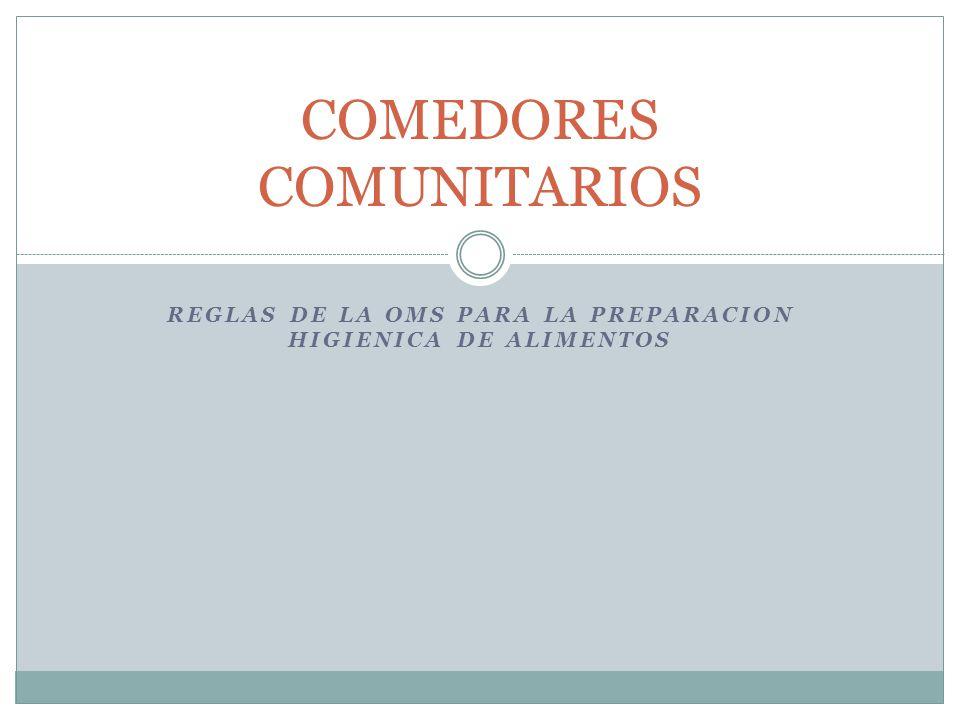 COMEDORES COMUNITARIOS