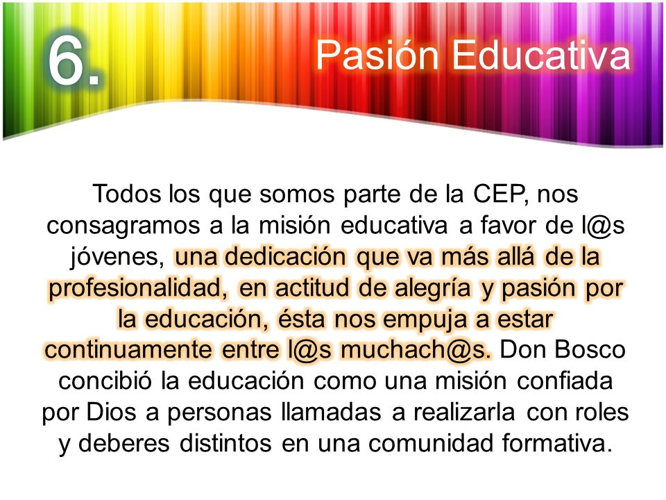 6. Pasión Educativa.