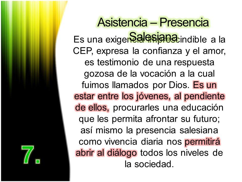 Asistencia – Presencia Salesiana
