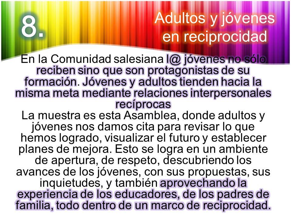 8. Adultos y jóvenes en reciprocidad