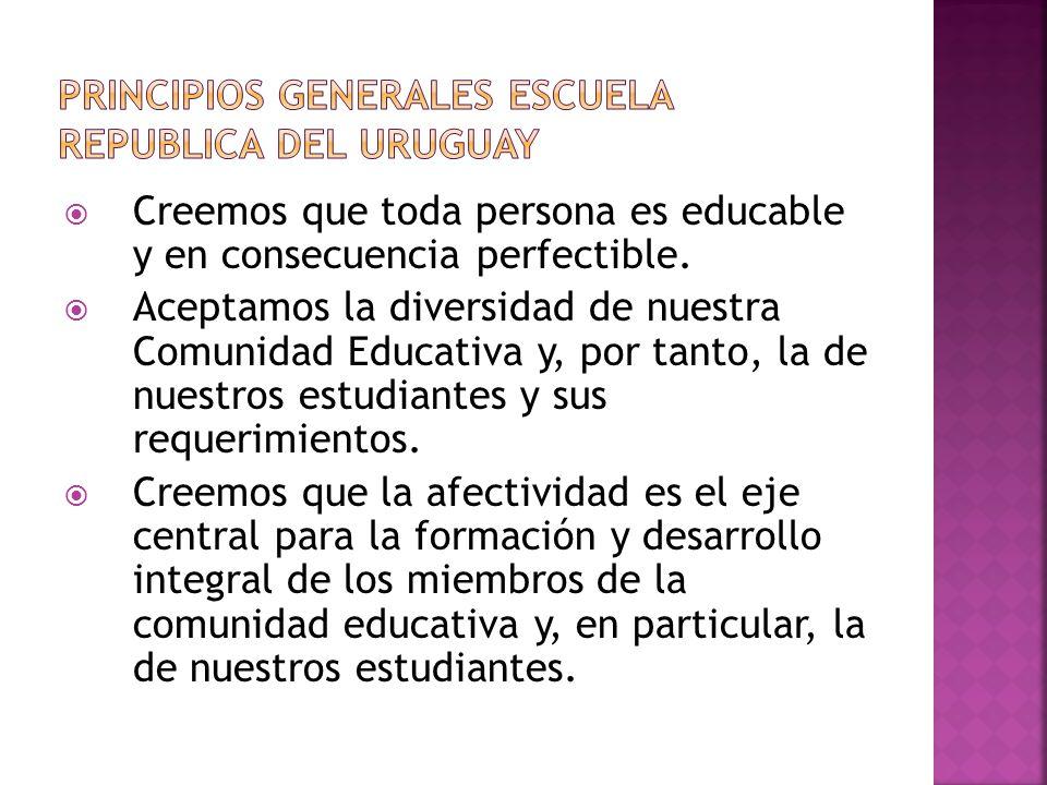 PRINCIPIOS GENERALES ESCUELA REPUBLICA DEL URUGUAY