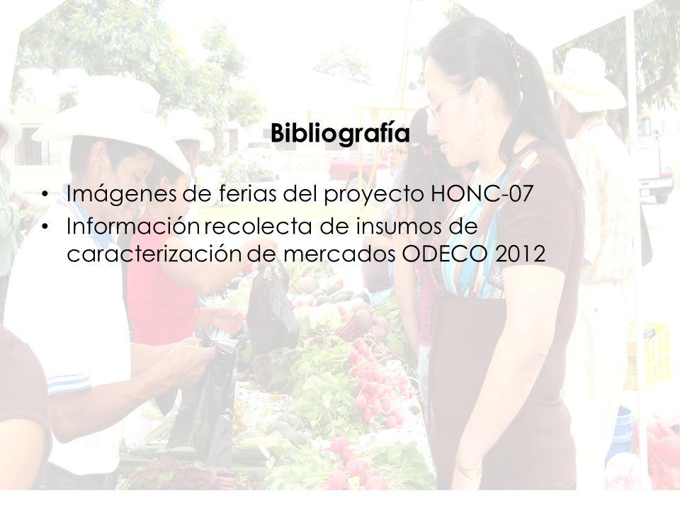 Bibliografía Imágenes de ferias del proyecto HONC-07