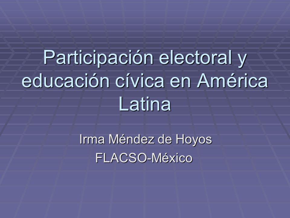 Participación electoral y educación cívica en América Latina