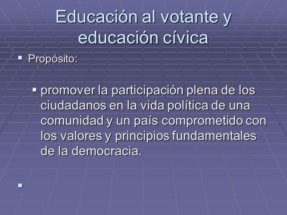 Educación al votante y educación cívica