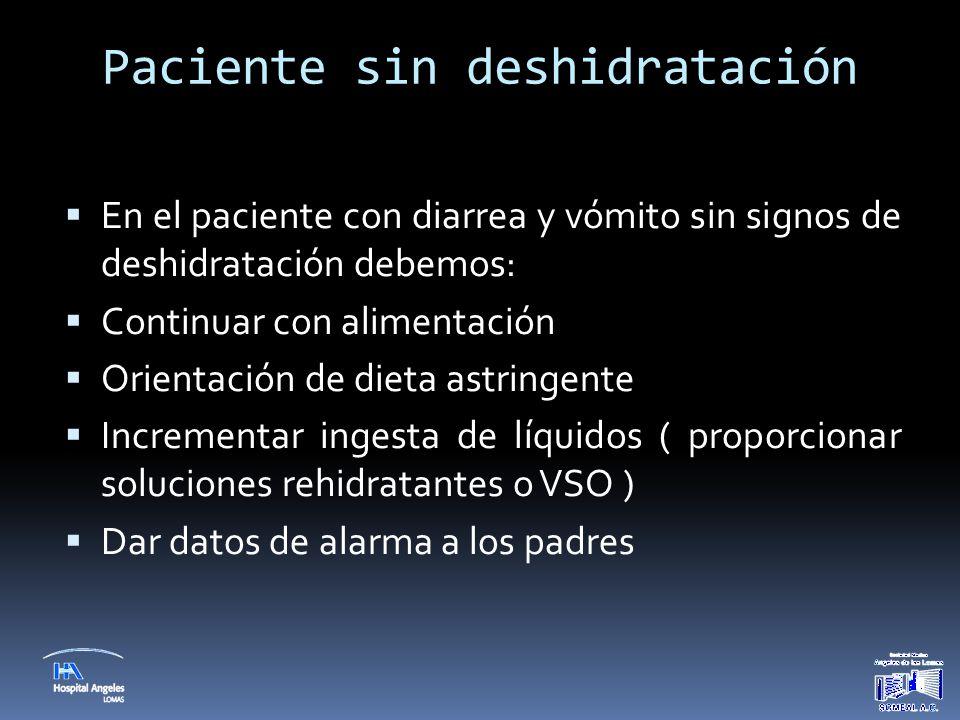 Paciente sin deshidratación