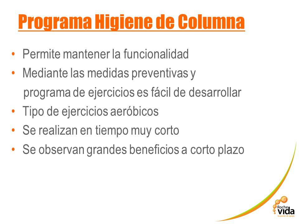 Programa Higiene de Columna