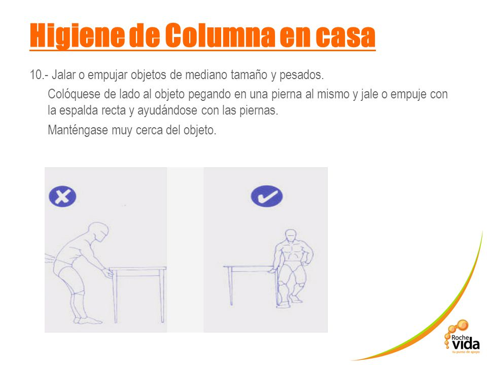 Higiene de Columna en casa