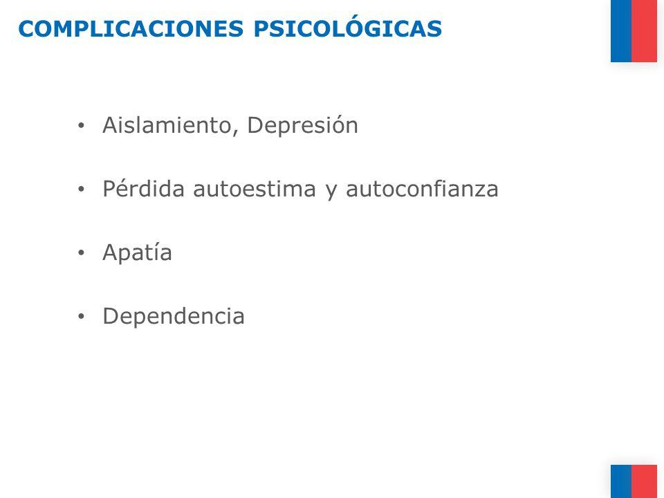 COMPLICACIONES PSICOLÓGICAS