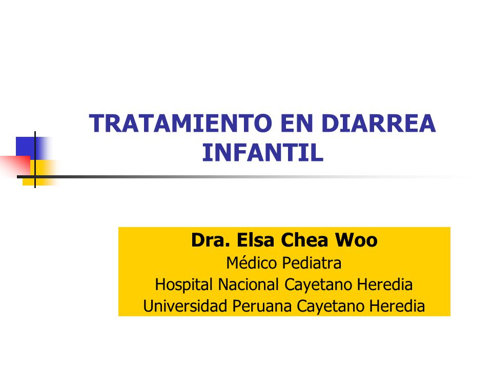 TRATAMIENTO EN DIARREA INFANTIL - ppt video online descargar