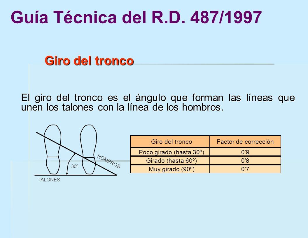 Guía Técnica del R.D. 487/1997 Giro del tronco