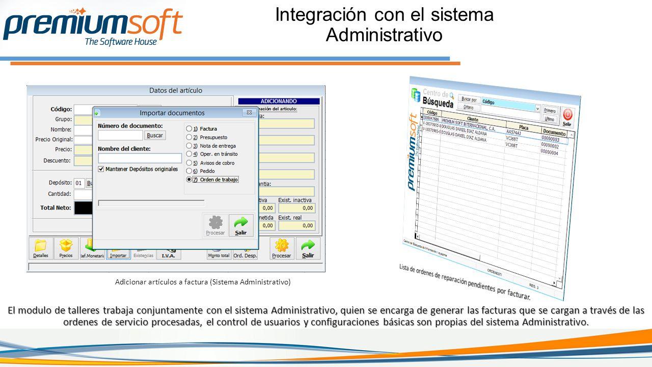 Integración con el sistema Administrativo