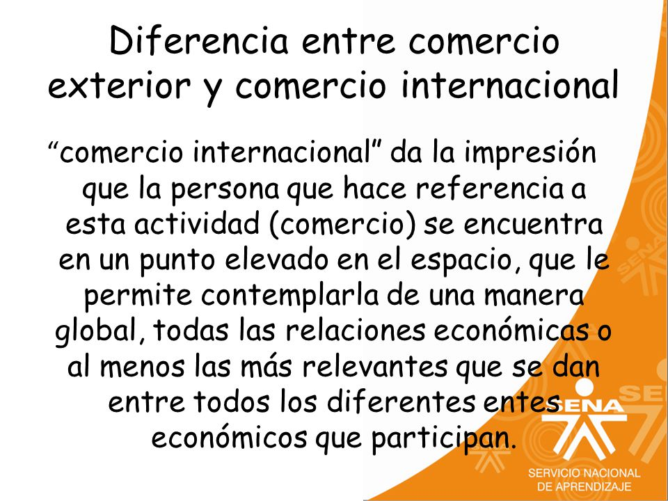 Comercio exterior y comercio internacional ppt video for Que es el comercio interior