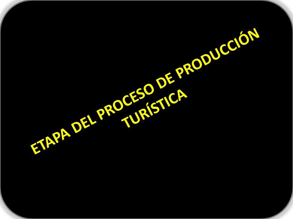 ETAPA DEL PROCESO DE PRODUCCIÓN TURÍSTICA